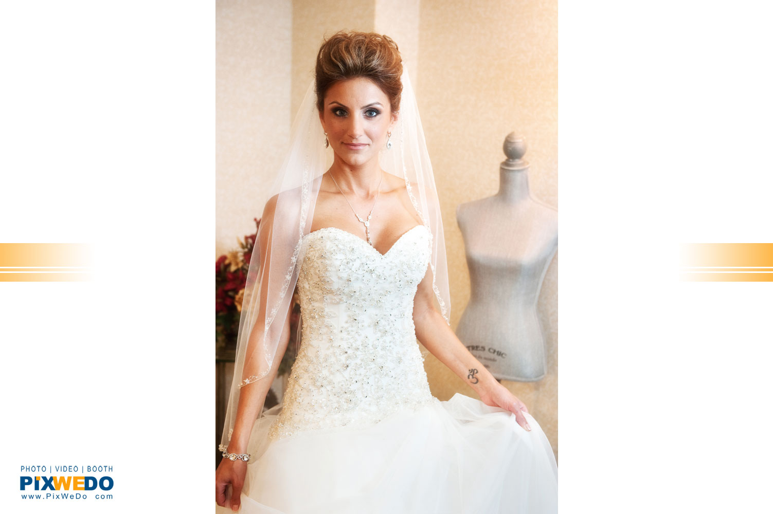 Bride in the dress, wedding