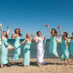 Bridesmaids with Bride at Rosewood park Highland Park