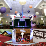 Room decorated for Bar mitzvah party Northbrook