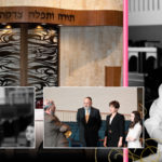 Custom album page with Bat Mitzvah girl at Lakeside Congregation in Highland Park, IL.