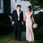 Picture of Bride and Groom at St John's Episcopal Church
