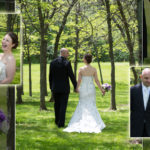 Park photosesson bride and groom, custom page design.