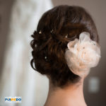 Picture of Bride in front of the dress