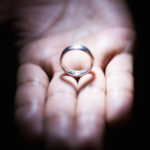 Creative light techniques wedding ring picture