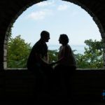 Engagement photosession at public park in Glenkoe