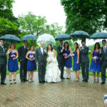 Raining Day group picture the grove country club long grove wedding