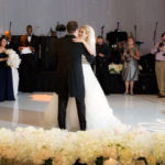 First Dance picture at intercontinental o'hare wedding