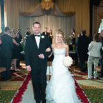 Palmer house wedding Ceremony, picture of Bride and Groom
