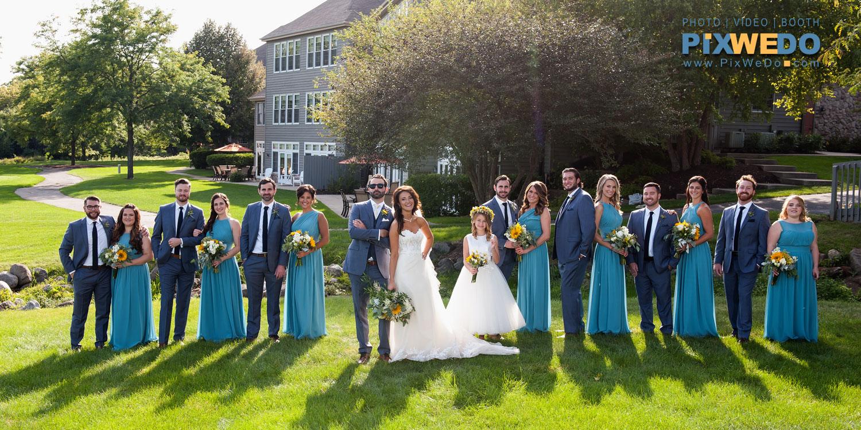 Bridal Party with Bride and Groom at Geneva National Resort Lake Geneva Wisconsin