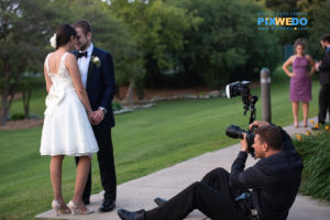 Bride and Groom at Oak Brook bath and tennis club