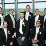 Groom at spertus wedding chicago