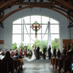 wedding ceremony at St Mary of Vernon Catholic Church