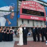 wedding party at Wrigley Field