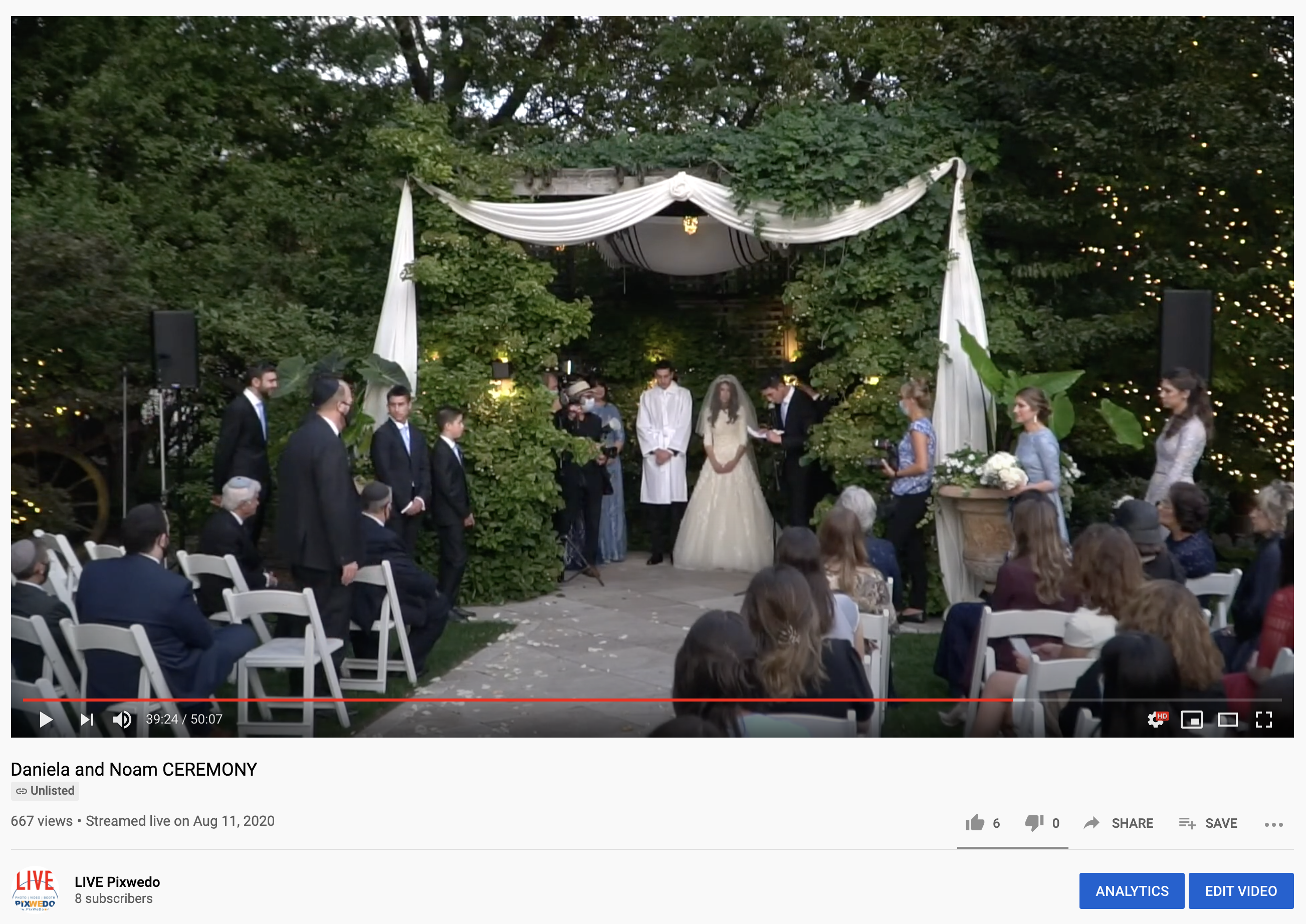 LiveStreaming wedding at Galleria Marchetti Chicago